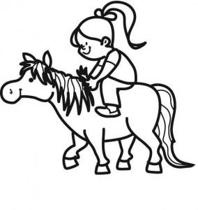 Malvorlage_Maedchen_mit_Pony